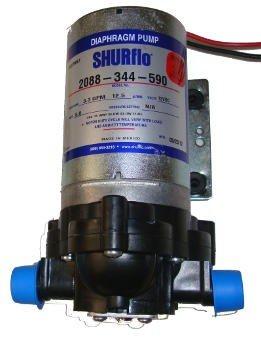 Bomba de Diafragma Elétrica Shurflo 2088-344-590 12V - Canal Agrícola