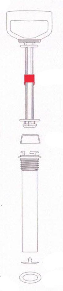 Bucha Guia de Pistão Guarany Para Pulverizador de Compressão Prévia de Plástico  (6588)