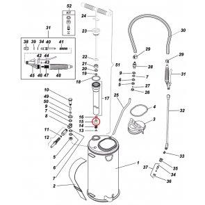 Válvula para Pulverizador Inox Guarany - Kit com 4 peças - Canal Agrícola