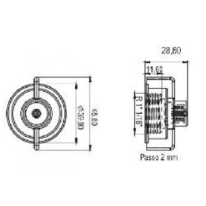Porca Antigotejo Modelo Jacto em Nylon com Fibra - Magnojet M650/5