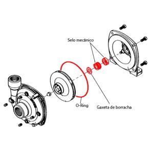 Kit Selo Mecânico em Carbonato de Silício para Bomba Hypro 9303 (3430-0589)