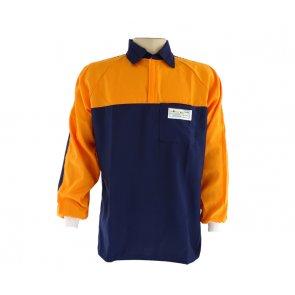 Camisa Florestal Azul e Laranja Tecmater (515.001.001)