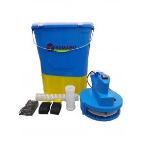 Semeadora e Adubadora de Granulados Costal a Bateria com Manopla Aplicadora - 20 Litros - Yamaho