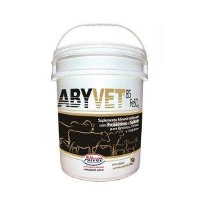 Suplemento Bovino Abyvet Alivet (Probióticos, Selênio e 85% Sulfato de Ferro - FeSO4) Balde 15 Kg - Canal Agrícola
