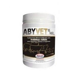 Suplemento Bovino Abyvet Alivet (Probióticos, Selênio e 85% Sulfato de Ferro - FeSO4) Pote 1 Kg - Canal Agrícola