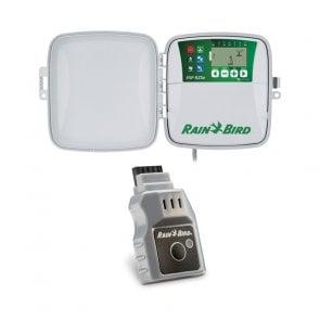 Temporizador para Irrigação Ambiente Externo 4 Estações ESP RZX Rain Bird com Módulo Wi-fi - Canal Agrícola