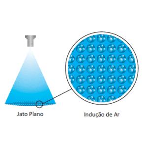 Bico de Pulverização Cerâmico com Indução de Ar KGF Redutor de Deriva Ar RDA11006 - Cinza (RDA110-06)