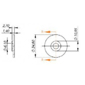 Diafragma para Porta Bico Modelo Jacto Magnojet (M250) - 50 unidades