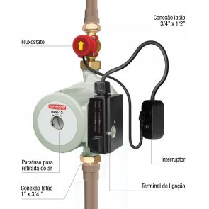 Motobomba Pressurizadora Residencial Schneider BPR-12 - Motor Monofásico 220V 1/3CV (87209222-00)