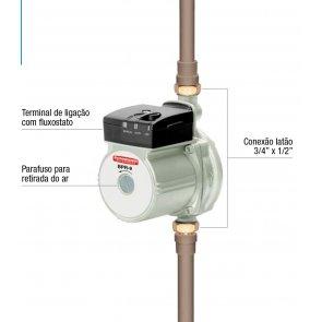 Bomba de Pressurização Residencial Schneider BPR-9 - Motor Monofásico 220V 1/6CV (87209220-00)
