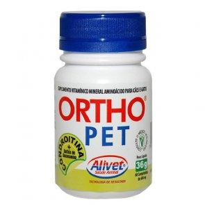 Vitamina para Cães e Gatos Ortho Pet Alivet Frasco 60 comprimidos - Canal Agrícola