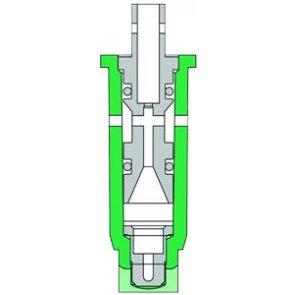Bico de Pulverização Inox com Indução de Ar Teejet Jato Plano 80° (AI80)