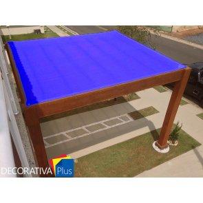 Tela de Sombreamento Decorativa Plus Azul - Bobina 4,0x50m - Ráfia - 155 g/m2 - Ginegar/Polysack