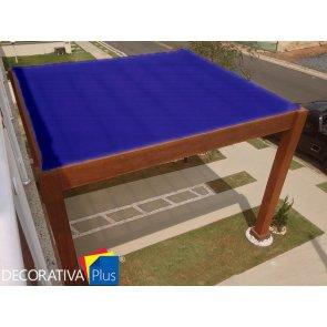 Tela de Sombreamento Decorativa Plus Azul/Preta - Bobina 4,0x50m - Ráfia - 155 g/m2 - Ginegar/Polysack