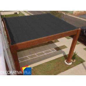 Tela de Sombreamento Decorativa Plus Preta - Bobina 4,0x50m - Ráfia - 155 g/m2 - Ginegar/Polysack