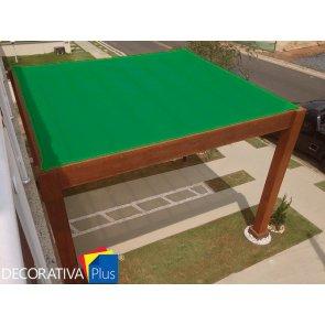 Tela de Sombreamento Decorativa Plus Verde - Bobina 4,0x50m - Ráfia - 155 g/m2 - Ginegar/Polysack