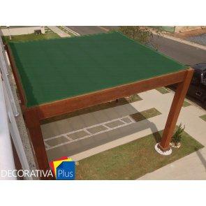 Tela de Sombreamento Decorativa Plus Verde/Preta - Bobina 4,0x50m - Ráfia - 155 g/m2 - Ginegar/Polysack