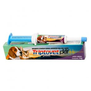 Vitamina para Cães e Gatos Triptovet Pet Alivet Seringa 14g - Canal Agrícola