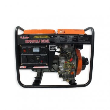 Gerador de Energia a Diesel 4.5kVA VG 3600D Bivolt - Partida Manual - Vulcan (56952) - Canal Agrícola