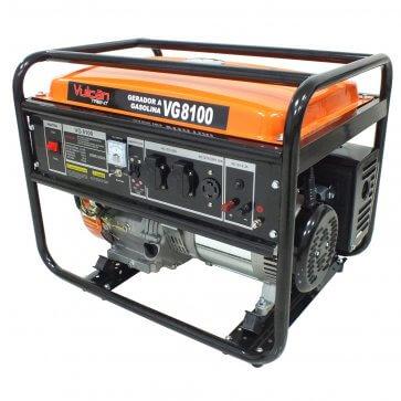 Gerador Gasolina Monofásico VG 8100 – 15 HP - Partida Manual - Vulcan (80067)