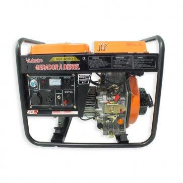 Gerador de Energia a Diesel 4.5kVA VGE 3600D com Partida Elétrica Vulcan (56983)