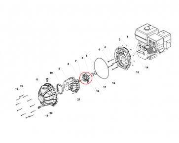 Rotor Bomba Hypro 1543 (0400-1543P) - Canal Agrícola