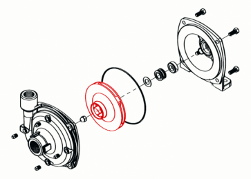 Rotor em Nylon (branco) para Bomba Hypro 9606 (0401-9200P2) - Canal Agrícola