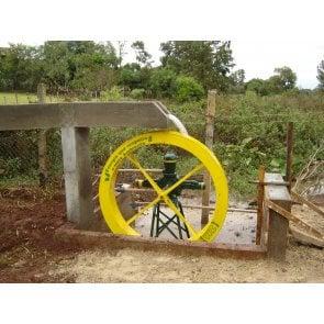 Roda D'água 1,00x0,15m com bomba de 2.600 à 13.000 L/dia e 130 à 190m de Altura ZM-44  (200676)