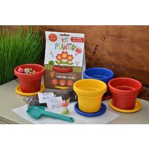 Kit Plantio para Crianças - Verde Vida - Canal Agrícola
