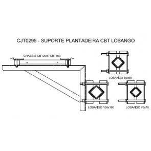 Suporte em Losango para Micron Combat 200 / 300 Litros para Plantadeira (CJT0295)