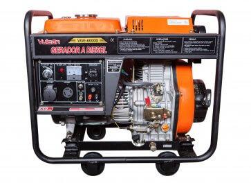 Gerador de Energia a Diesel Monofásico 7.5KVA – VGE 6000D - Bivolt - Vulcan (56969) - Canal Agrícola