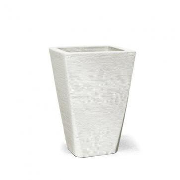 Vaso Decorativo Trápezio Grafiato Branco 35x30 cm - 17L - Nutriplan (N35)