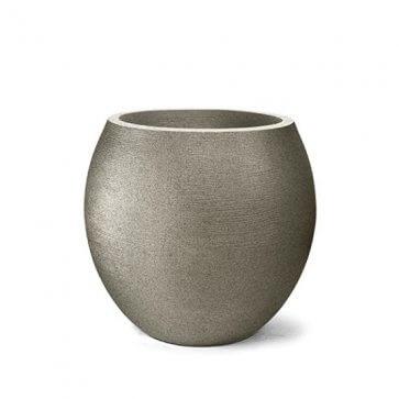Vaso Decorativo Oval Grafiato Granito 26x23cm 12L Nutriplan - Canal Agrícola