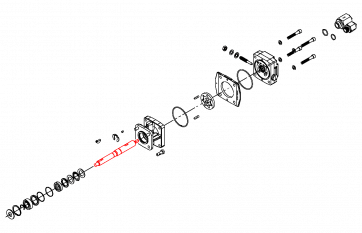 Eixo da Bomba Centrífuga para Motor Hidráulico HM1C e HM5C (3430-0852) - Canal Agrícola