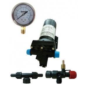 Bomba Centrifuga Elétrica Shurflo STD 5059 12v Viton com Manômetro e Regulador de Pressão - Canal Agrícola