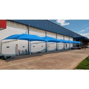Tela para Sombreamento Ecosombra Azul para Garagens e Jardins - Rolo de 4,0 x 50m (30201001)