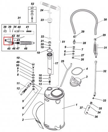 Corpo com Trava da Válvula Super 3 para Pulverizador Inox Guarany - Kit com 2 Peças - Canal Agrícola
