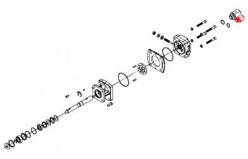 Parafuso de Entrada - Linha de Pressão - Motor Hidráulico - Hypro (3360-0021A) - Canal Agrícola