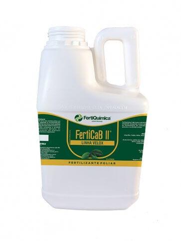 Fertilizante Foliar Multielemento Quelatizado FERTICaB II 5 Litros Fertiquímica - Canal Agrícola