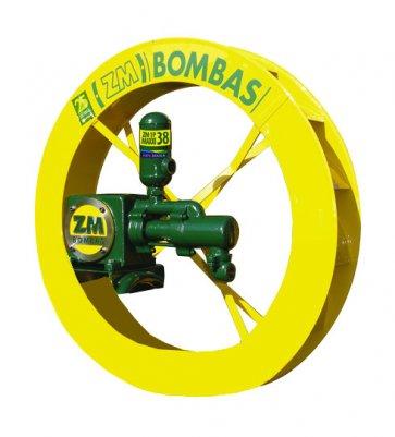 Roda D'água 1,00x0,15m com bomba de 890 à 4.500 L/dia e 130 à 190m de Altura ZM-1P-38 (200898) - Canal Agrícola