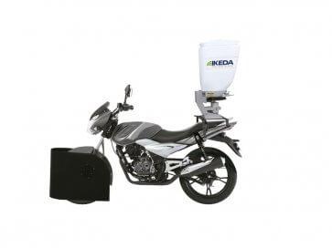 Semeadora para Motos MS-60 com Abridor de Linha AL40 Ikeda 60 Litros - Canal Agrícola