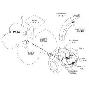 Pulverizador Micron Combat FO para Forrageiras e Ensiladeiras de 50 Litros Bomba 8000 (5 l/min) (CBT05FO1)