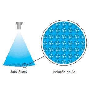 Bico de Pulverização Cerâmico com Indução de Ar KGF Redutor de Deriva Ar RDA11004 - Vermelho (RDA110-04)