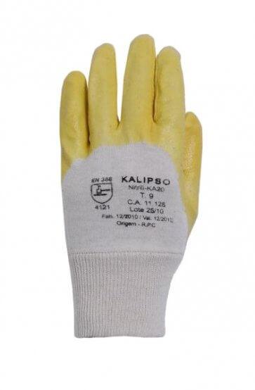 Luva Algodão com Látex Nitrílico Nitrili-KA 20 Kalipso (508007003) - Canal Agrícola