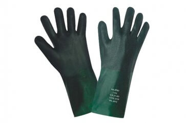 Luva PVC Áspera 27cm Palma 9 1/2 Verde Kalipso (508002012) - Canal Agrícola