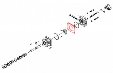 Alojamento para Gerotor do Motor Hidráulico HM1C - Hypro (0700-2500C1) - Canal Agrícola
