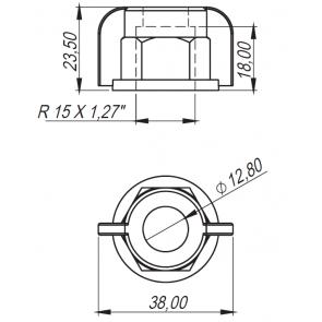 Capa Curta Universal para Rosca 18x1,5mm Magnojet exceto MJC e MJE com Anel de Vedação (M218/2 + M216)