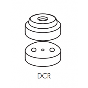Capa Curta para Engate Rápido para Bicos da Série Disco Copo DCR Magnojet com Anel de Vedação (M233 + M217)
