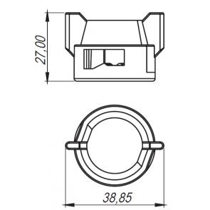 Capa Cega para Engate Rápido com Anel de Vedação Magnojet (M270 + M217)