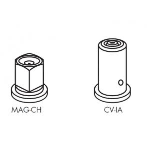 Capa Longa para Engate Rápido para Bicos da Séries MAG-CH e CV-IA Magnojet com Anel de Vedação (M273 + M217) - Kit com 3 unidades